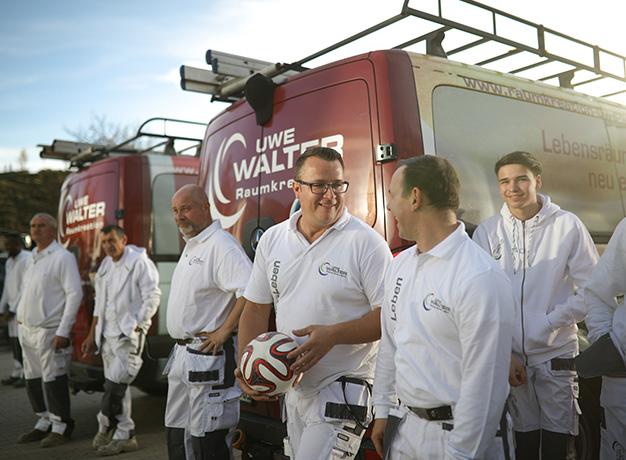 Ein Team der Uwe Walter Gruppe